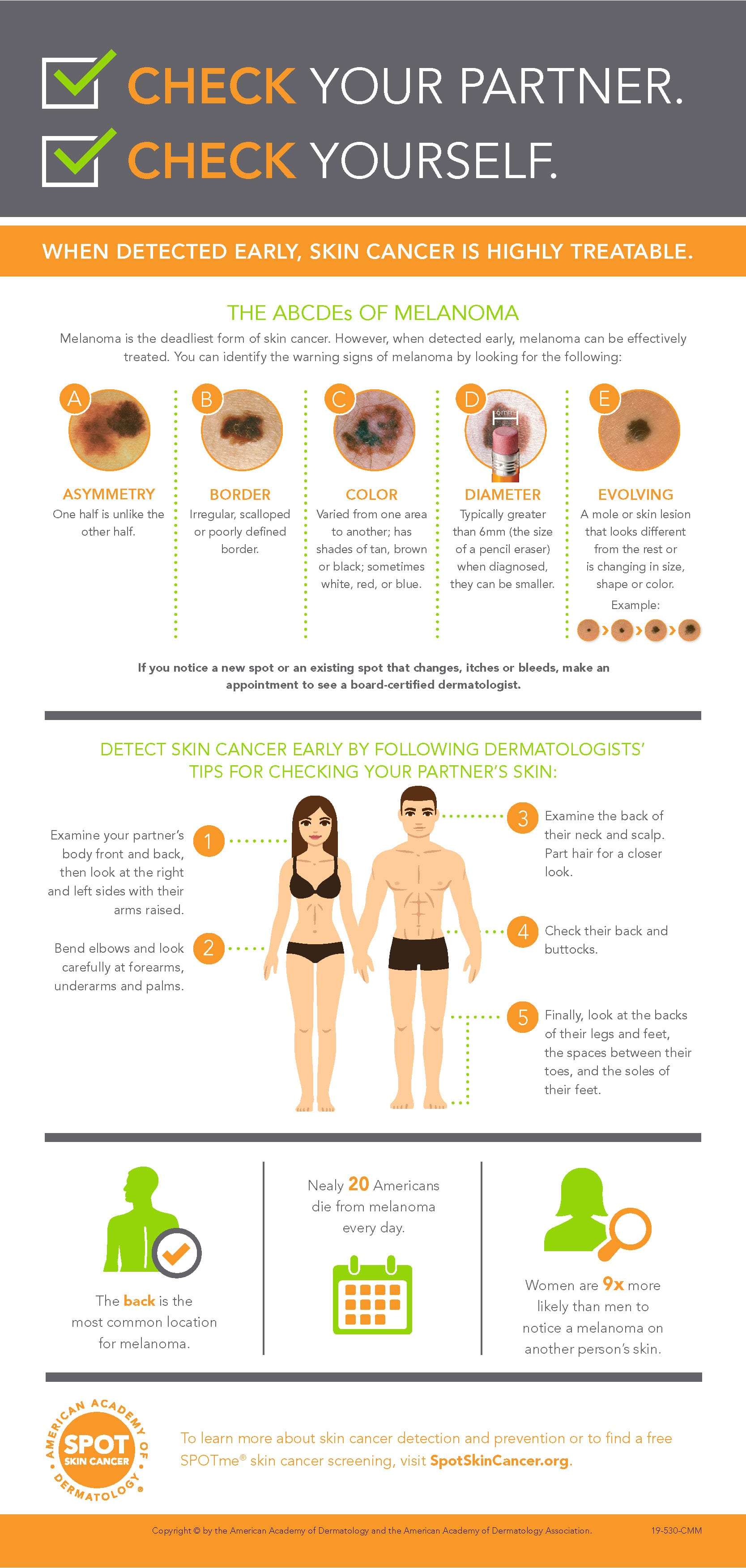 Dermatology Tips - Check Your Partner